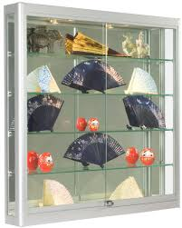 6 deep trophy cases with tempered glass construction