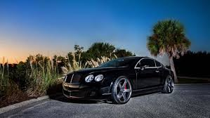 bentley continental gt black side view cool cars hd wallpapers