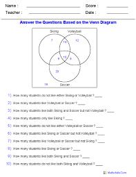 15 Venn Diagram Worksheets Word Problems Using Three Sets I