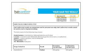 Drugs In Hair Chart How To Read Results For Our Hairconfirm Hair Follicle Drug Testing Kit