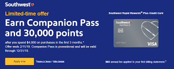 Many offer rewards that can be redeemed for cash back, or for rewards at companies like disney, marriott, hyatt, united or southwest airlines. Expired New Chase Southwest Offers 30 000 Points Companion Pass Good Through 2019 Doctor Of Credit