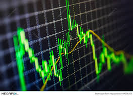 Display Of Stock Market Quotes Chart Graph On Monitor Live Online Amazing Live Market Quotes