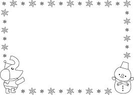 飾り枠ライン無料イラスト素材冬