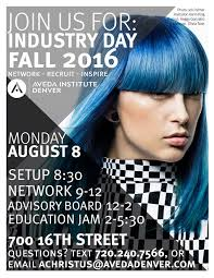 Aid Industry Day Poster Fall 2016 Beauty School Denver