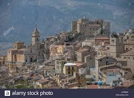 Caccamo Sicile Cité Médiévale Ville Italienne Avec Le Château