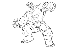 Coloring Pages Free Printable Hulk Coloring Pages For Kids