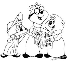 Small Picture Alvin and the Chipmunks Coloring Pages