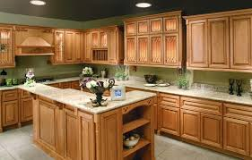 oak kitchen cabinets with granite countertops. Oak Furniture Brown Wooden Kitchen Cabinet And Beige Granite Countertops Connected By Green Backsplash Interesting Schemes Of Cabinets With K