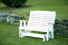 rocking bench outdoor porch glider poly curve back made furniture 2 for uk rocking outdoor bench