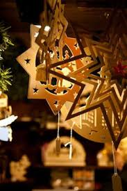 German Tree Ornaments. Wooden star ornaments