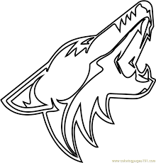 During that span the coyotes are 25th in the nhl with an average of 2.40 goals per game, and 24th with an average of 3.47. Arizona Coyotes Logo Coloring Page For Kids Free Nhl Printable Coloring Pages Online For Kids Coloringpages101 Com Coloring Pages For Kids