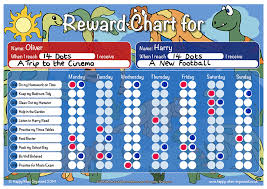 children rewards charts dinosaur theme childs boys girls reward chart
