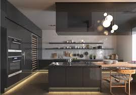 Kitchen Full Design Dark Black Kitchen Lighting Awesome Decors
