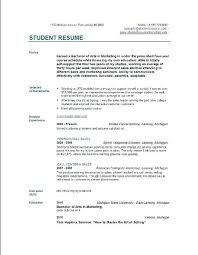 Simple Sample Resume Format For Students