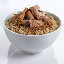 brown rice in a bowl. Simple Bowl Tuna Rice Bowl In Brown A