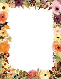 Paper With Flower Border Flower Border For Bond Paper Transparent Cartoon Jing Fm