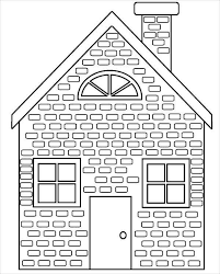 A house is generally a building that is a place for habitation by human beings. 9 House Coloring Pages Jpg Ai Illustrator Download Free Premium Templates
