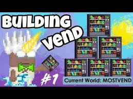 "How To Make Vending Machine In Growtopia Simple Videos Like This ""Growtopia Building First Vend Shop"" Noonewsru"