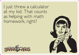 i just threw a calculator at my kid that counts as helping  that counts as helping math homework