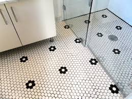 minimalist design ideas using rectangular glass shower doors and white tile floor combine