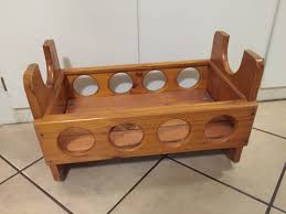 wooden baby doll cot