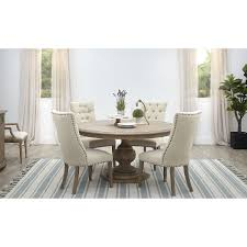 Haddie Light Tone Round Table Haddie Light Tone Round Table 4 Upholstered Chairs In 2019