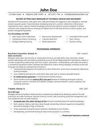 Unusual Sales Manager Resume Templates Account Objective Doc