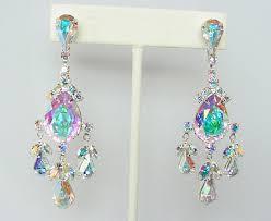 ab rhinestone earrings ab crystal chandelier earrings