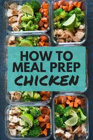 Weekly Lunch Prep How To Meal Prep Chicken
