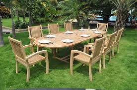 view the full image 8 10 seater clearance teak garden furniture set
