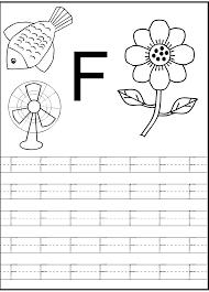 Letter F Worksheets For Preschool Kindergarten Prin