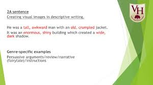 alan peat parent workshop agenda  pie corbett  alan peat  2a sentence creating visual images in descriptive writing