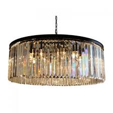 d angelo 12 light round clear glass crystal prism chandelier