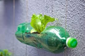 make flower pots out of plastic bottles