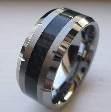 mens wedding bands tungsten carbide. 10mm men\u0027s tungsten carbide wedding band ring with black carbon fiber size mens wedding bands tungsten carbide e