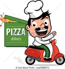 pizza delivery clipart. Fine Delivery Pizza Delivery Chef In Scooter  Csp24568473 To Delivery Clipart Z