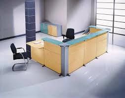 image of l shaped salon reception desk