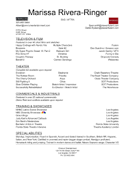 Resume With Accent Resume Marissa Ringer 81