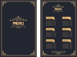 Restaurant Menu Design Royal Style On Dark Background Menu
