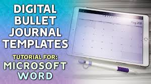 Digital Bullet Journal Spreads In Microsoft Word Tutorial