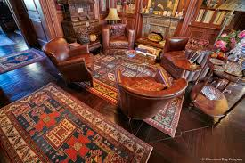 study with 2 cauacasian kazak rugs