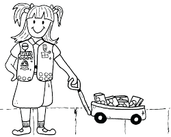 Girl Scout Brownie Elf Coloring Pages Girl Scout Promise Coloring