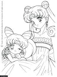 moon coloring page pages anime sailor princess phases sheet
