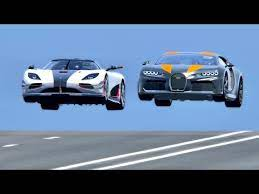 Bugatti chiron koenigsegg regera vergleich sport supersportwagen autozeitung autos und. Bugatti Chiron Super Sport 300 Vs Koenigsegg One 1 Drag Race 20 Km Youtube