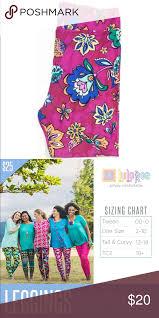 Lularoe Tc2 Size Chart Lularoe Tc2 Leggings Floral Pink Colorful Plus Sz Lularoe
