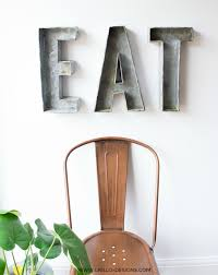3d faux metal letters for an industrial style dining room grillo designs