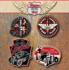 Classic Sticker Design Details About Hot Rod Vintage Custom Car Sticker Set Rat