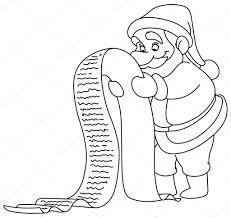 Overzicht Santa Met Lijst Stockvector Yayayoyo 128785586