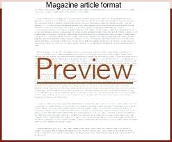Magazine Article Format Template Online Magazine Article Template News Story Outline Template