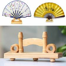 Japanese Fan Display Stand 100cm Chinese Japanese Foldable Fan Display Holder Base Stand Knot 15